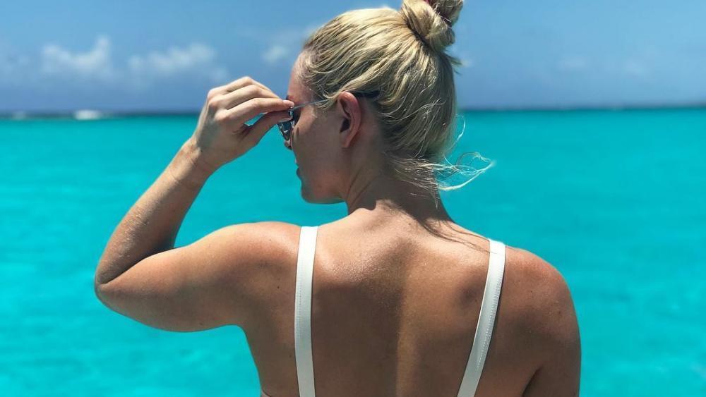 Lindsey Vonn genießt das traumhafte Meer. © Facebook / Lindsey Vonn