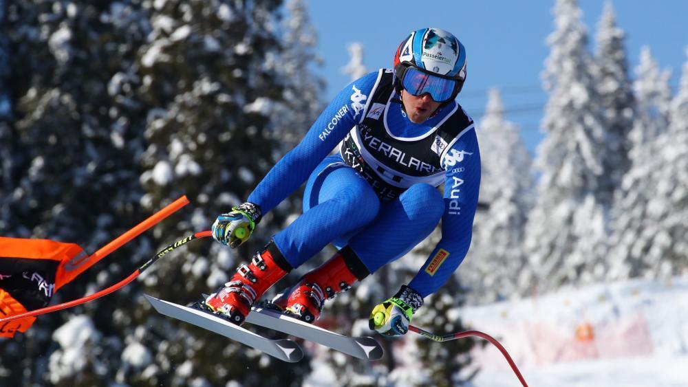 Werner Heel bei der Weltcupabfahrt in Kvitfjell 2018 © pentaphoto