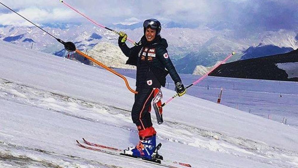 Back on snow – Marie-Michèle Gagnon am Stilfserjoch © Marie-Michèle Gagnon/facebook