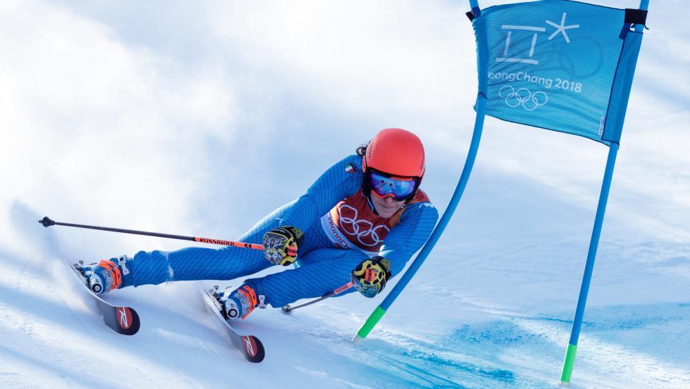 Brignone auf dem Weg zu Bronze bei den Winterspielen 2018 © APA / EXPA/JOHANN GRODER