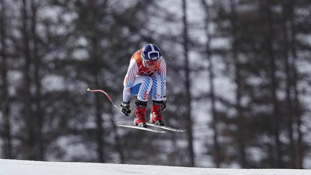 Breezy Johnson bei der Olympia-Abfahrt in Südkorea © Facebook / Breezy Johnson