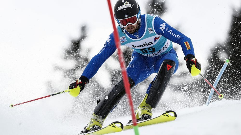 Fabian Bacher raste im Slalom auf das Podest. © Pentaphoto