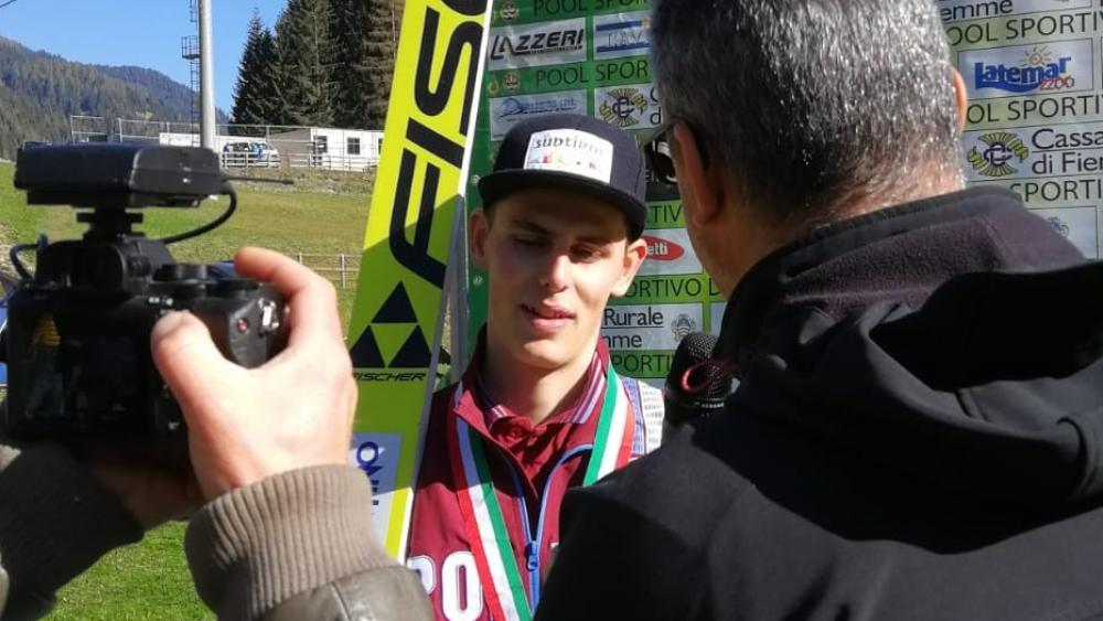 Alex Insam sicherte sich in Predazzo den Italienmeistertitel.