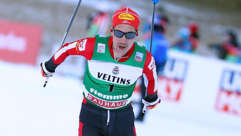 Mario Seidl holte sich am Sonntag seinen zweiten Weltcupsieg. © ANSA / ANDREA SOLERO