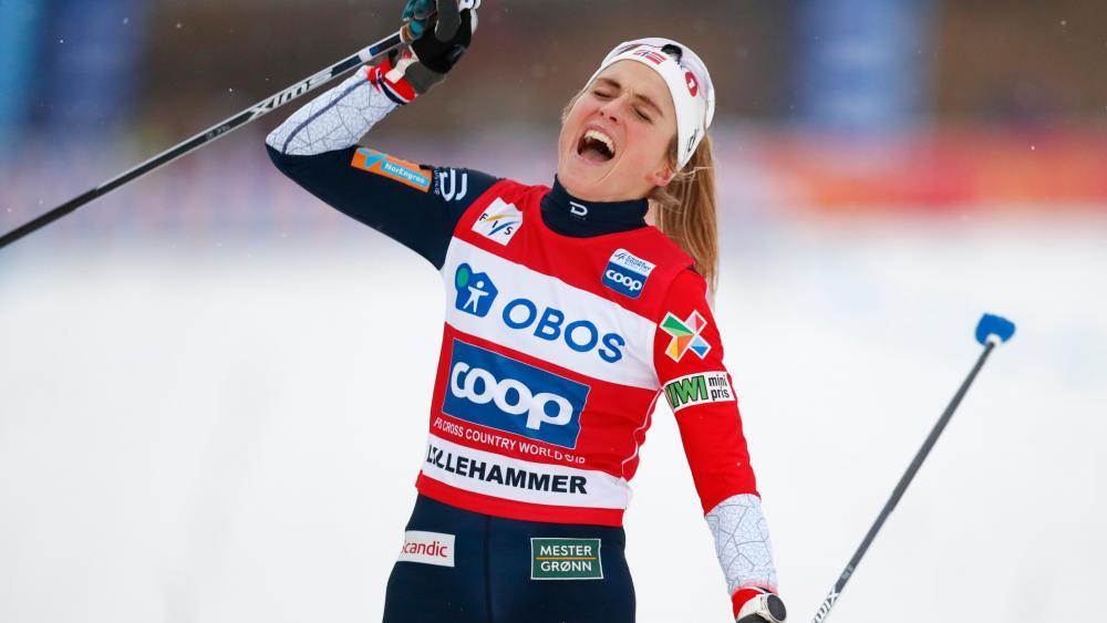 Therese Johaug war bei den Damen die Schnellste. © APA/afp / TORE MEEK