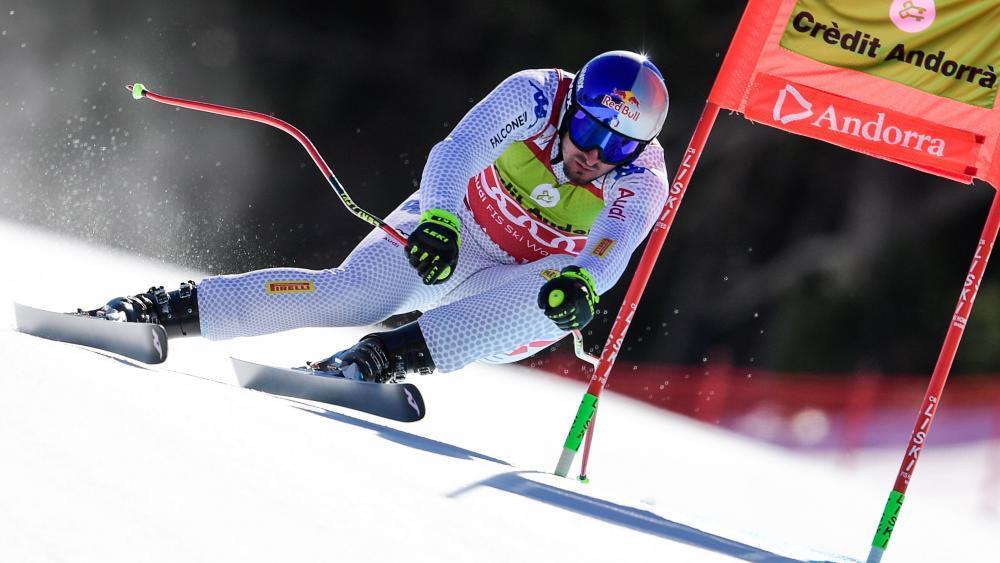 Dominik Paris will seine überragende Saison mit dem Italienmeistertitel krönen. © APA/afp / JAVIER SORIANO