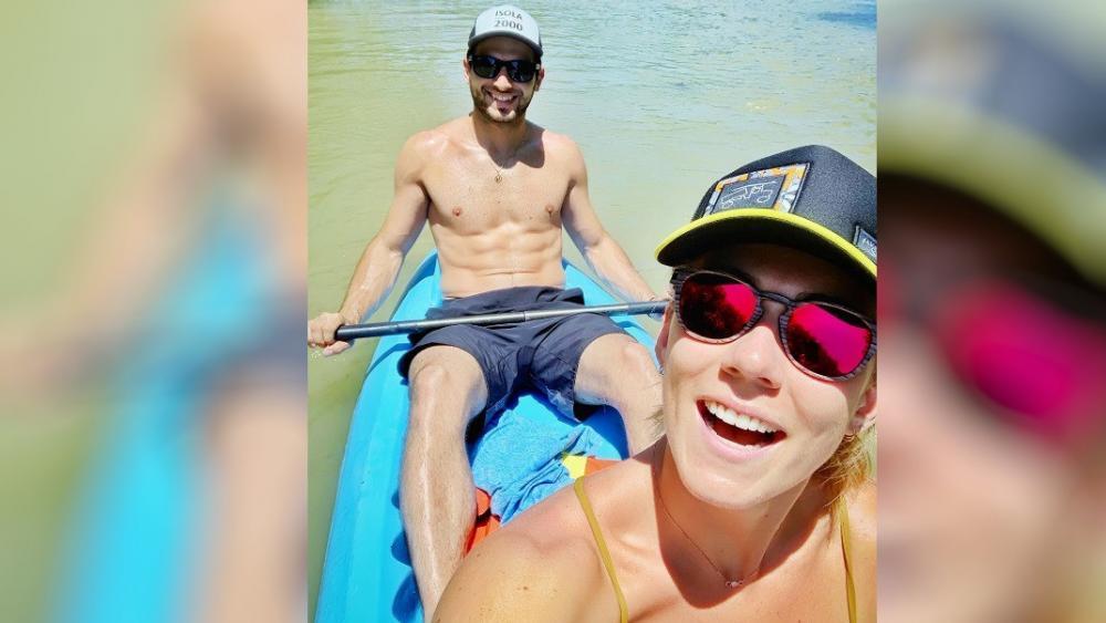 Shiffrin und ihr Freund Mathieu Faivre genießen ihren Urlaub. © Mikaela Shiffrin / Instagram