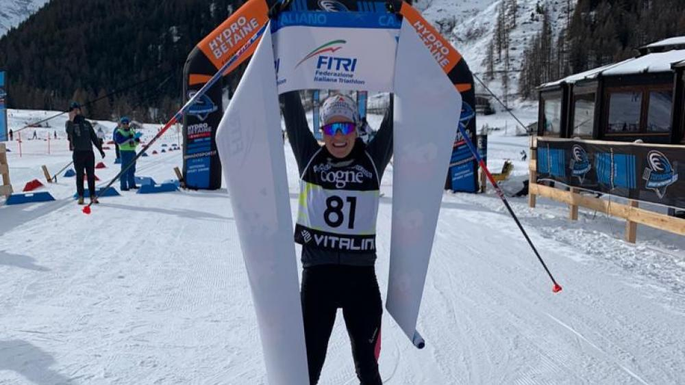 Sandra Mairhofer holte sich den Italienmeistertitel im Winter-Triathlon. © fitri