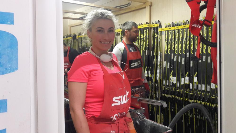 Stefani Popova aus Bulgarien ist Athletin und Wachslerin zugleich. © lm