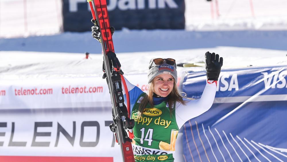 Das Schweizer Ski-Ass Joana Hählen. © AFP / NIKOLAY DOYCHINOV