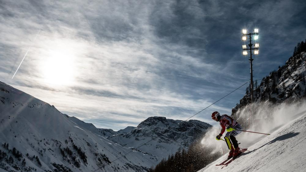 Der Weltcup in Val d'Isère soll stattfinden. © AFP / JEFF PACHOUD