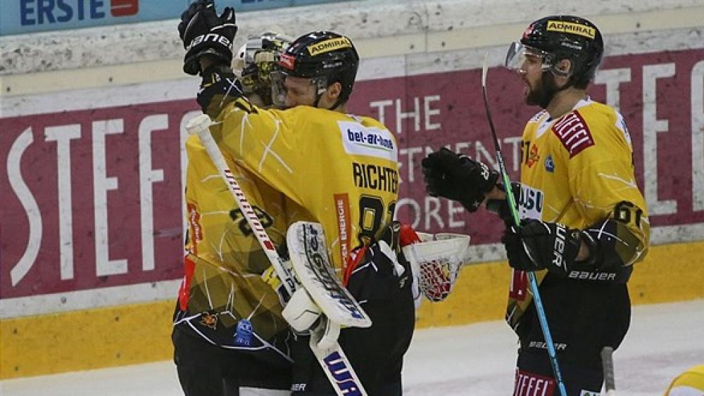 Capitals Feiern Shootout Sieg Gegen Die 99ers ICEHL