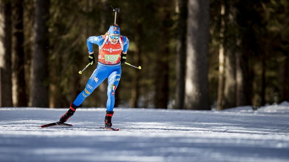 Dorothea Wierer greift in Antholz an. © Biathlon Antholz