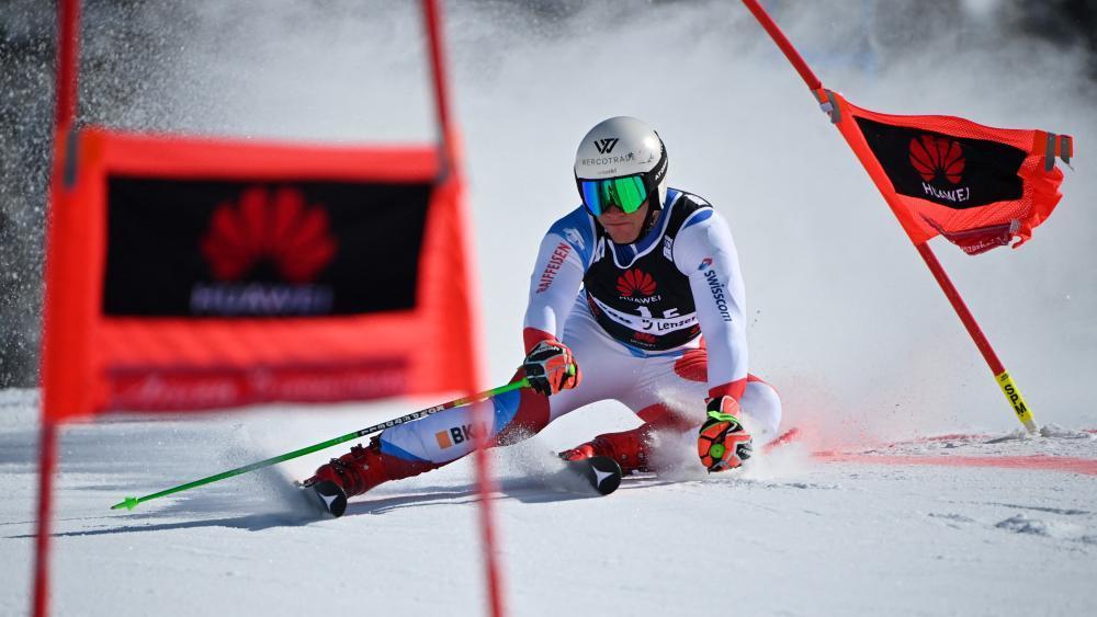 Rückschlag für Schweizer Ski-Hoffnung. © AFP / FABRICE COFFRINI