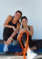 Nicol Delago und ihre Schwester Nadia (r.)  sind feste Bestandteil von Italiens Speed-Auswahl.